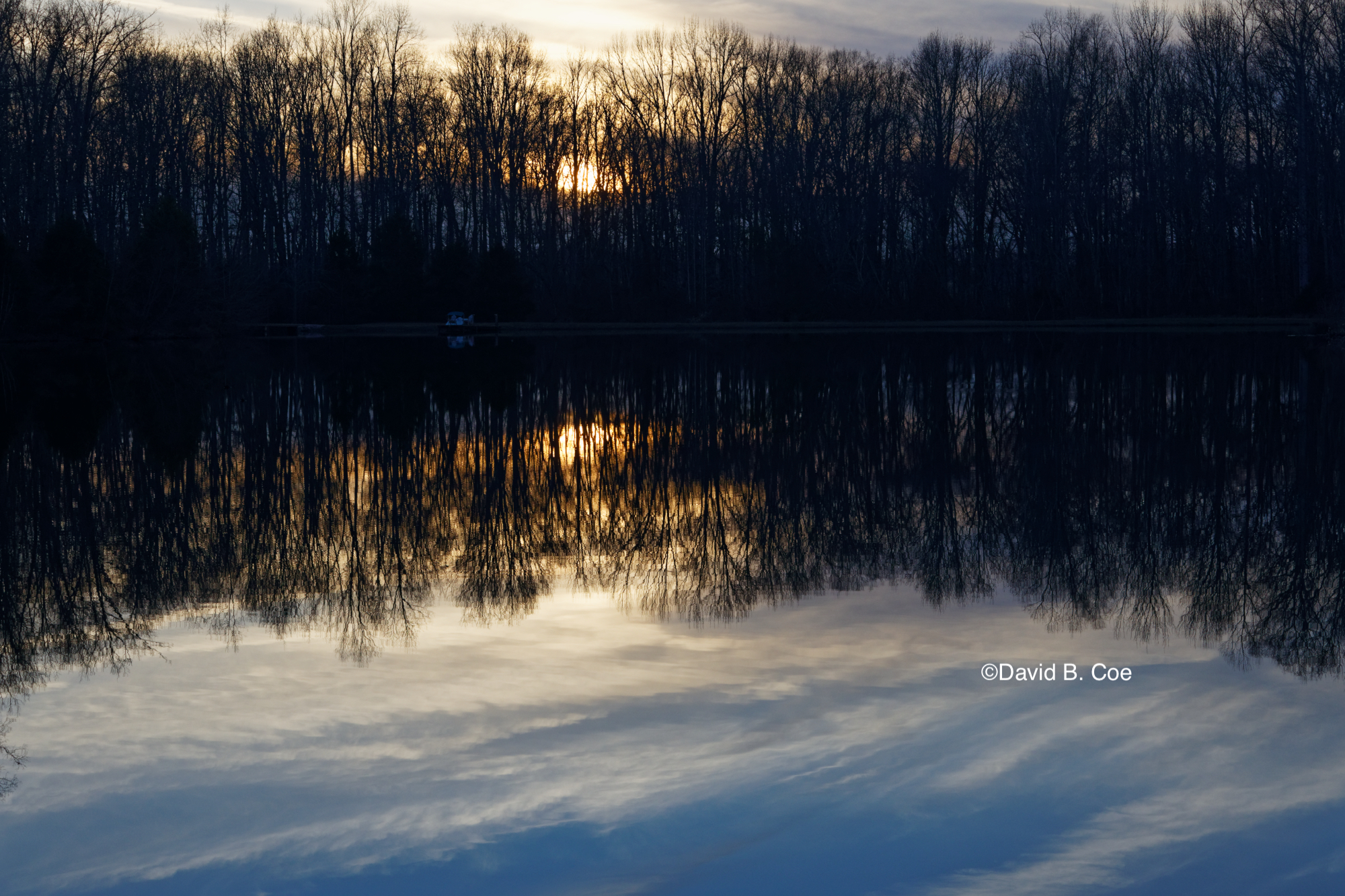 Twilight Pond Reflection, by David B. Coe