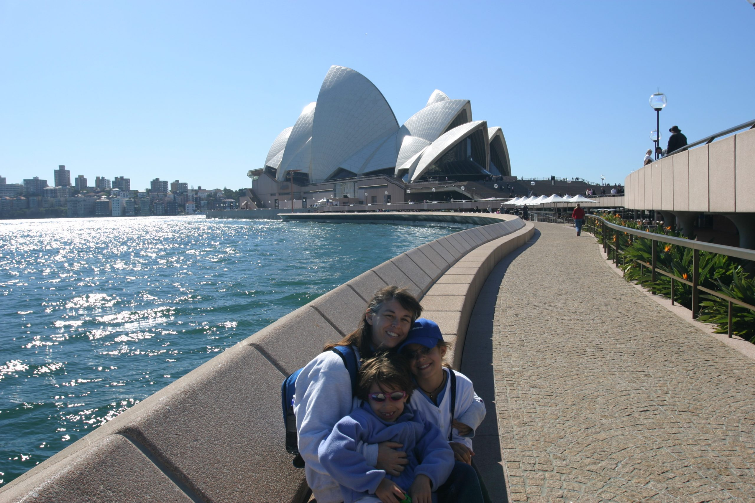 Sydney Opera House and family