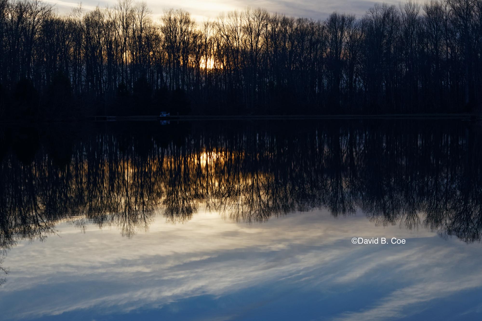 Twilight Pond Reflection, by David B. Coe