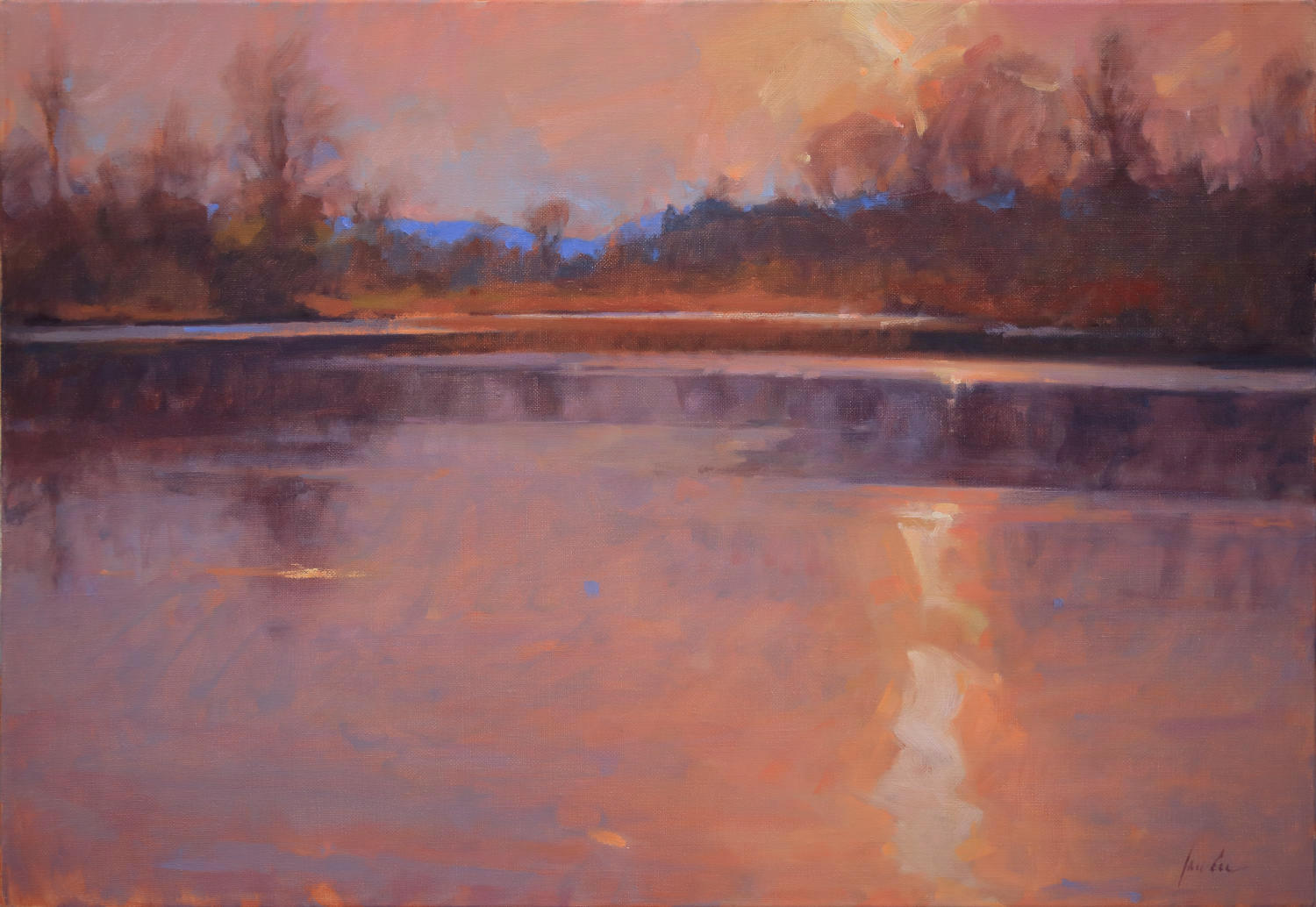 """Pond Light; Sun Dance"" by James Coe"