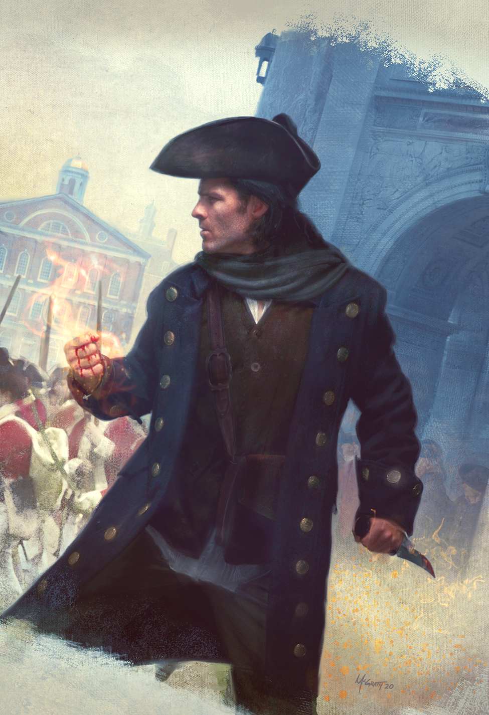 Thieftaker: The Loyalist Witch, Jacket Art by Chris McGrath